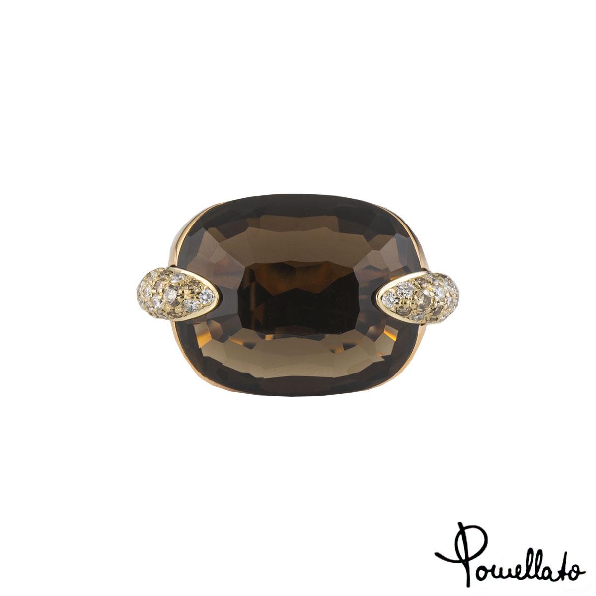 Pomellato Rose Gold Diamond and Quartz Ring